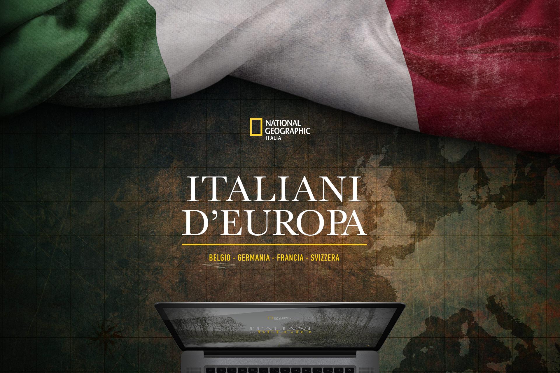 Cover del progetto Italiani d'Europa, National Geographic Italia