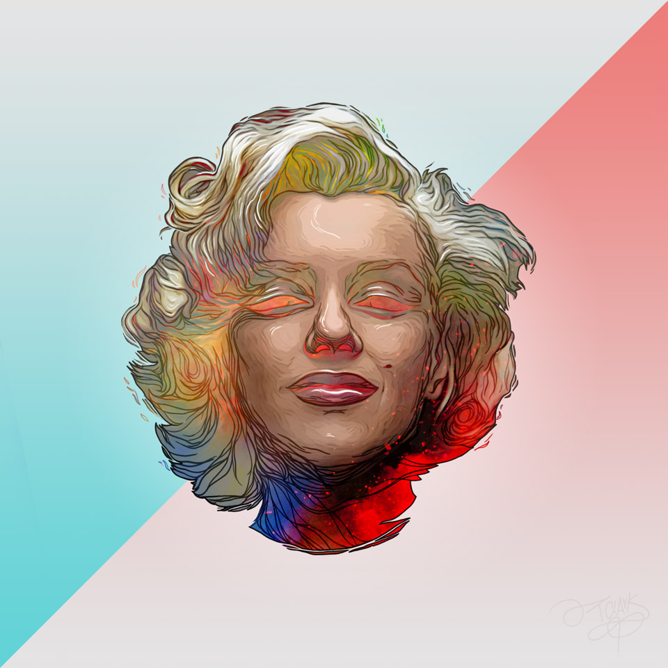true-colorz-img-1-marilyn-monroe-art-print-illustrazione-ivantclark-com